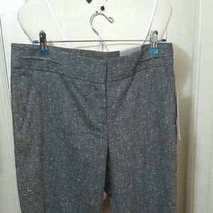 🎄RAFAELLA straight leg gray tweed pants 10 NWT